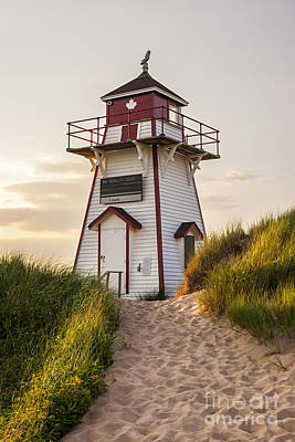 Lighthouse Photograph - Covehead Harbour Lighthouse by Elena Elisseeva