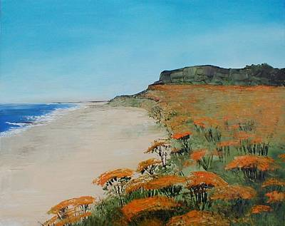 Southwold Painting - Covehithe Southwold by Vaughan Keal