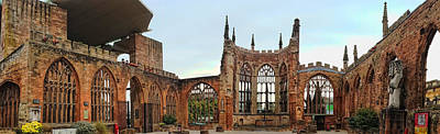 Photograph - Coventry Cathedral Ruins Panorama by Dan McManus