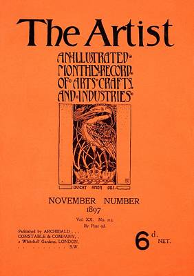 Cover For The Artist Magazine, November 1897 Art Print by English School