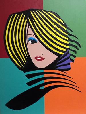 Painting - Cover Girl by Angelo Thomas