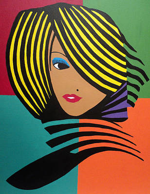 Painting - Cover Girl II by Angelo Thomas