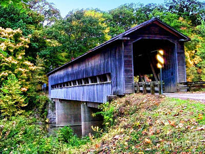 Photograph - Covered Bridge 1 by Gena Weiser