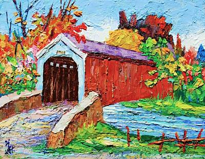 Covered Bridge Painting - Covered Bridge 3 by Siang Hua Wang
