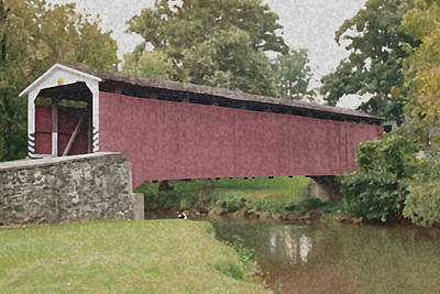 Photograph - Covered Bridge by Aileen Mayer