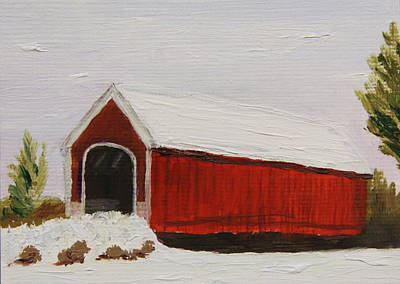 Painting - Covered Bridge by Alan Mager