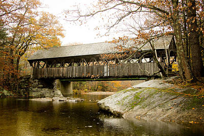 Covered Bridge  Art Print by Allan Millora