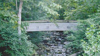 Covered Bridge At Crabtree Falls Art Print
