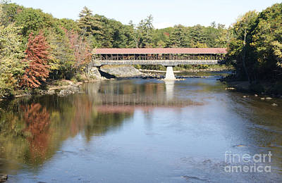 Photograph - Covered Bridge At North Conway by David Birchall