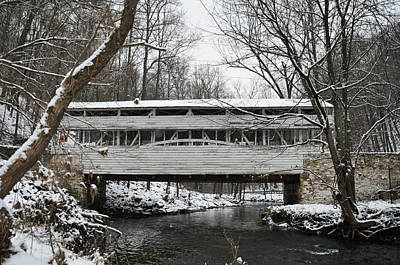 Covered Bridge At Valley Forge Print by Bill Cannon