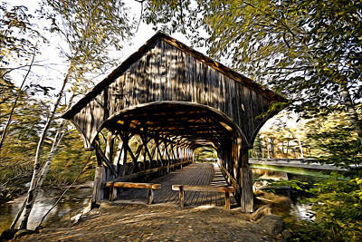 Photograph - Covered Bridge by Bill Howard
