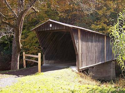 Digital Art - Covered Bridge By Angela Clay by Angelia Hodges Clay