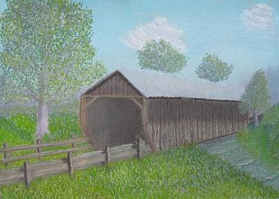 Covered Bridge Painting - Covered Bridge by Cathy Pierce Payne
