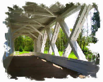 Oregon Covered Bridges Digital Art - Covered Bridge by Charles Piccirilli