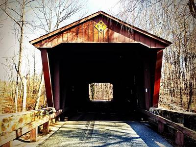 Photograph - Covered Bridge by Chris Montcalmo