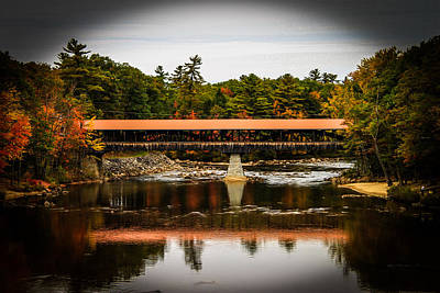 Covered Bridge Conway New Hampshire Art Print by Michael Donovan