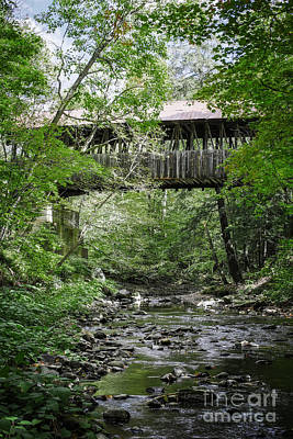 Photograph - Covered Bridge Cornish New Hampshire by Edward Fielding