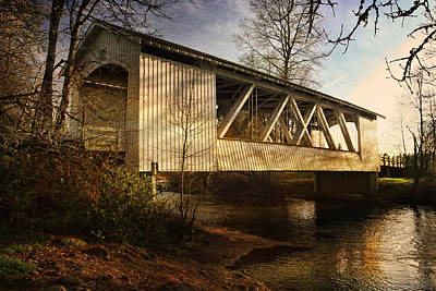 Photograph - Covered Bridge by Wes and Dotty Weber