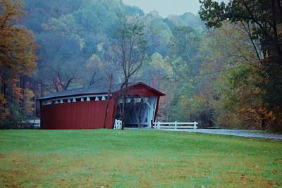 Covered Bridge Art Print by Diane Alexander