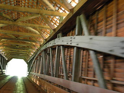 Elizabeth Scott Photograph - Covered Bridge by Elizabeth Scott