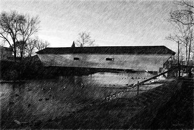 Covered Bridge Elizabethton Tennessee C. 1882 Art Print by Denise Beverly