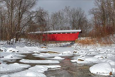 covered bridge Everett rd. Print by Daniel Behm