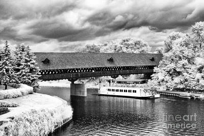 Covered Bridge In Frankenmuth Art Print by Jeff Holbrook