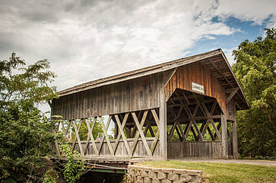 Covered Bridge In Nebraska Art Print