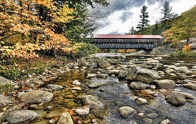 Photograph - Covered Bridge In New Hampshire by James Steele