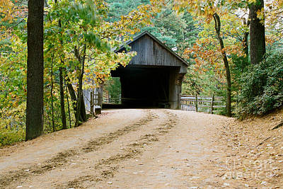 Covered Bridge In October Art Print