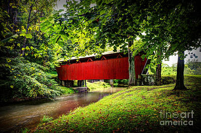 Photograph - Covered Bridge In Pa by Dan Friend