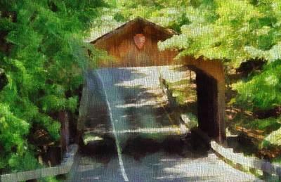 Covered Bridge Painting - Covered Bridge In Sleeping Bear Dunes National Lakeshore by Dan Sproul