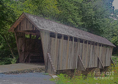 Photograph - Covered Bridge In The Spring by Sandra Clark
