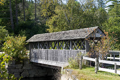 Pop Art - Covered bridge in Vermont by Patricia Hofmeester