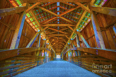 Photograph - Covered Bridge Indiana by David Haskett II