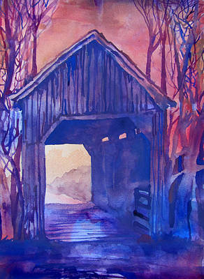 Covered Bridge Painting - Covered Bridge by James Huntley