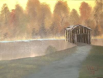 Covered Bridge Art Print by James Waligora