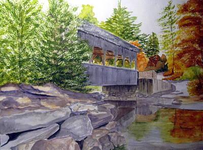 Covered Bridge Painting - Covered Bridge by Julia Rietz