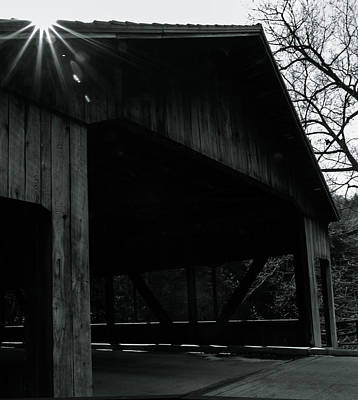 Photograph - Covered Bridge by Haren Images- Kriss Haren