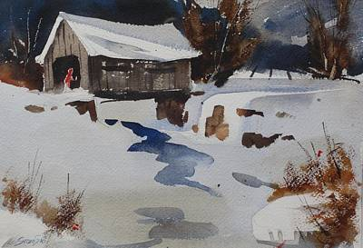 Painting - Covered Bridge by Len Stomski