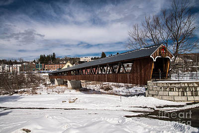 Photograph - Covered Bridge Littleton New Hampshire 2 by Glenn Gordon