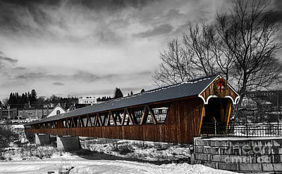 Photograph - Covered Bridge Littleton New Hampshire 3 by Glenn Gordon