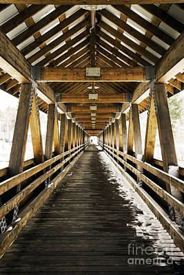 Photograph - Covered Bridge Littleton New Hampshire by Glenn Gordon