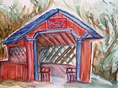 Covered Bridge Loretto Kentucky Art Print by Elaine Duras