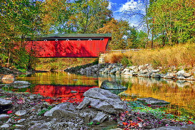 Amish Photograph - Covered Bridge by Marcia Colelli