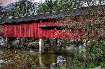 Photograph - Covered Bridge by Michael Colgate