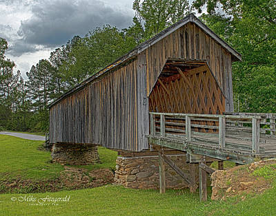 Photograph - Covered Bridge by Mike Fitzgerald
