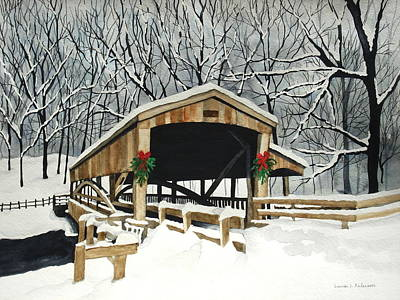 Covered Bridge Painting - Covered Bridge - Mill Creek Park by Laurie Anderson