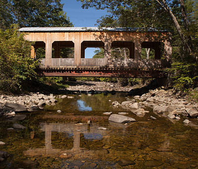 Covered Bridge Near Jamaica Vermont Art Print
