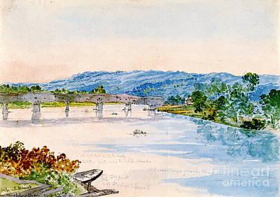 Covered Bridge New York 1846 Art Print